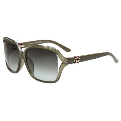 GUCCI-時尚太陽眼鏡(亞麻綠)