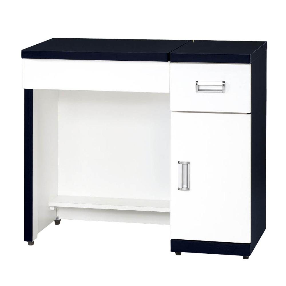CASA卡莎 黑白簡約2.9尺二用書桌