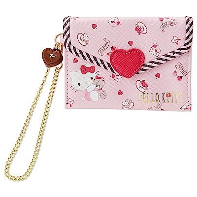 Sanrio SANRIO明星甜蜜愛心系列PU皮革情書造型票夾包(KITTY)