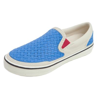 (男/女)Ponic&Co美國加州環保防水編織懶人鞋-藍色