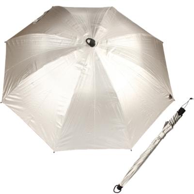 【EuroSCHIRM】SWING HANDFREE 戶外專用風暴傘(UPF50+)/銀
