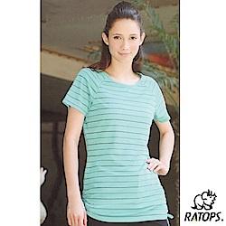 【瑞多仕-RATOPS】女 Coolmax 長版上衣_DB7967 翠綠底色 V