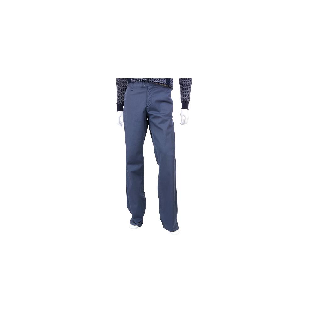 KENZO 藍灰色直筒休閒長褲(男)
