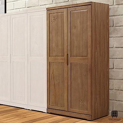漢妮Hampton格溫系列實木3尺衣櫥(雙吊)-91x57x196cm