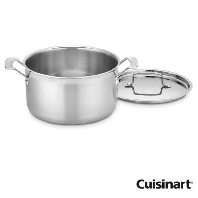 美國Cuisinart美膳雅專業級不鏽鋼湯鍋20cm(3.8L)(8H)