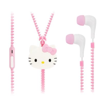 GARMMA Hello Kitty 入耳式麥克風耳機-粉色