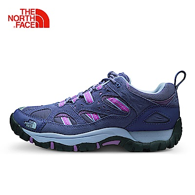 The North Face北面女款藍色防滑戶外徒步鞋