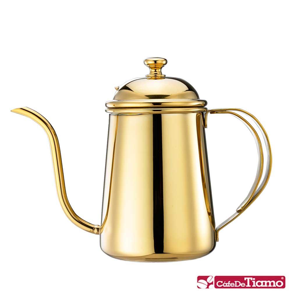 Tiamo 1.2L滴漏式細口咖啡壺-鈦金色(HA1514GD)