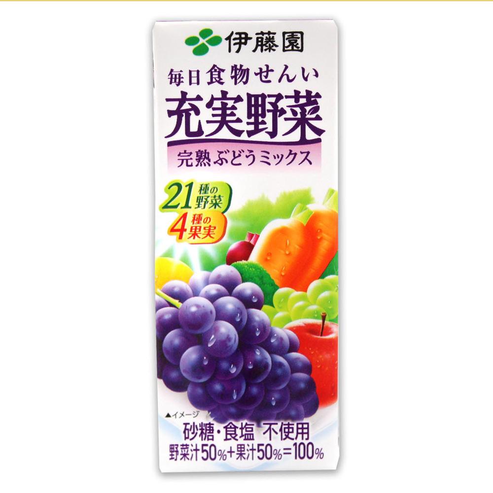 伊藤園  充實野菜汁-葡萄水果 (200ml x6入組)