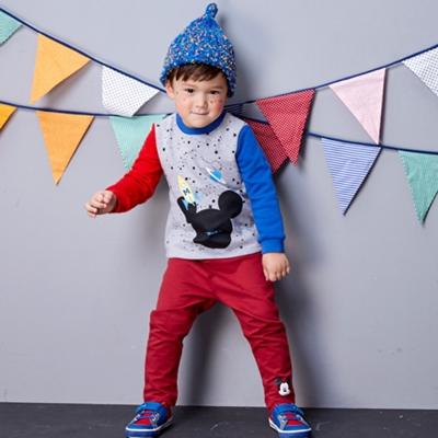 Disney baby 米奇系列歡心休閒棉褲 (共3色)