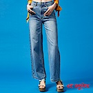 ETBOITE 箱子 BLUE WAY 經典復古時尚高腰寬褲-附花卉腰帶