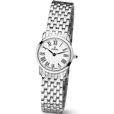 TITONI瑞士梅花錶 纖薄系列(TQ 42918 S-584)-白/25mm