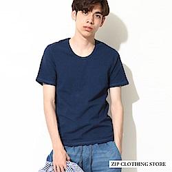 簡約百搭U領T恤(7色) ZIP日本男裝