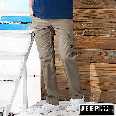 JEEP 美式野練口袋工作長褲 -深卡其