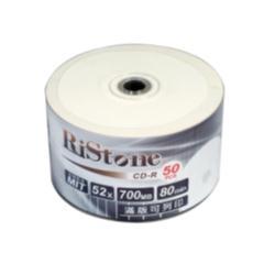 RiStone 日本版  CD-R 52X  珍珠白可印  ( 50片)