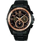 WIRED 鋼鐵假面計時腕錶-玫瑰金/IP黑/42mm