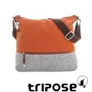 tripose 漫遊系列岩紋輕巧側肩背包 橘