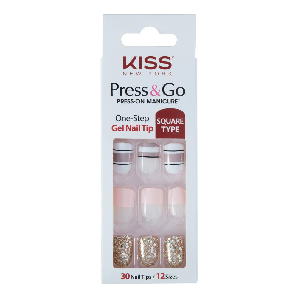美國 KISS New York-指甲貼片(PNG15K My Golden Life)