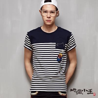 地藏小王-BLUE-WAY-墜落地藏短袖T恤-直白