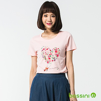 bossini女裝-印花短袖T恤48嫩粉