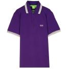 HUGO BOSS 綠標滾邊線素面POLO男衫(葡萄紫)