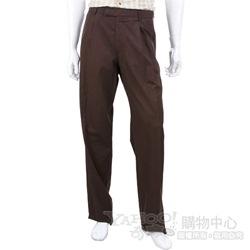 BOSS 咖啡色抓褶休閒長褲