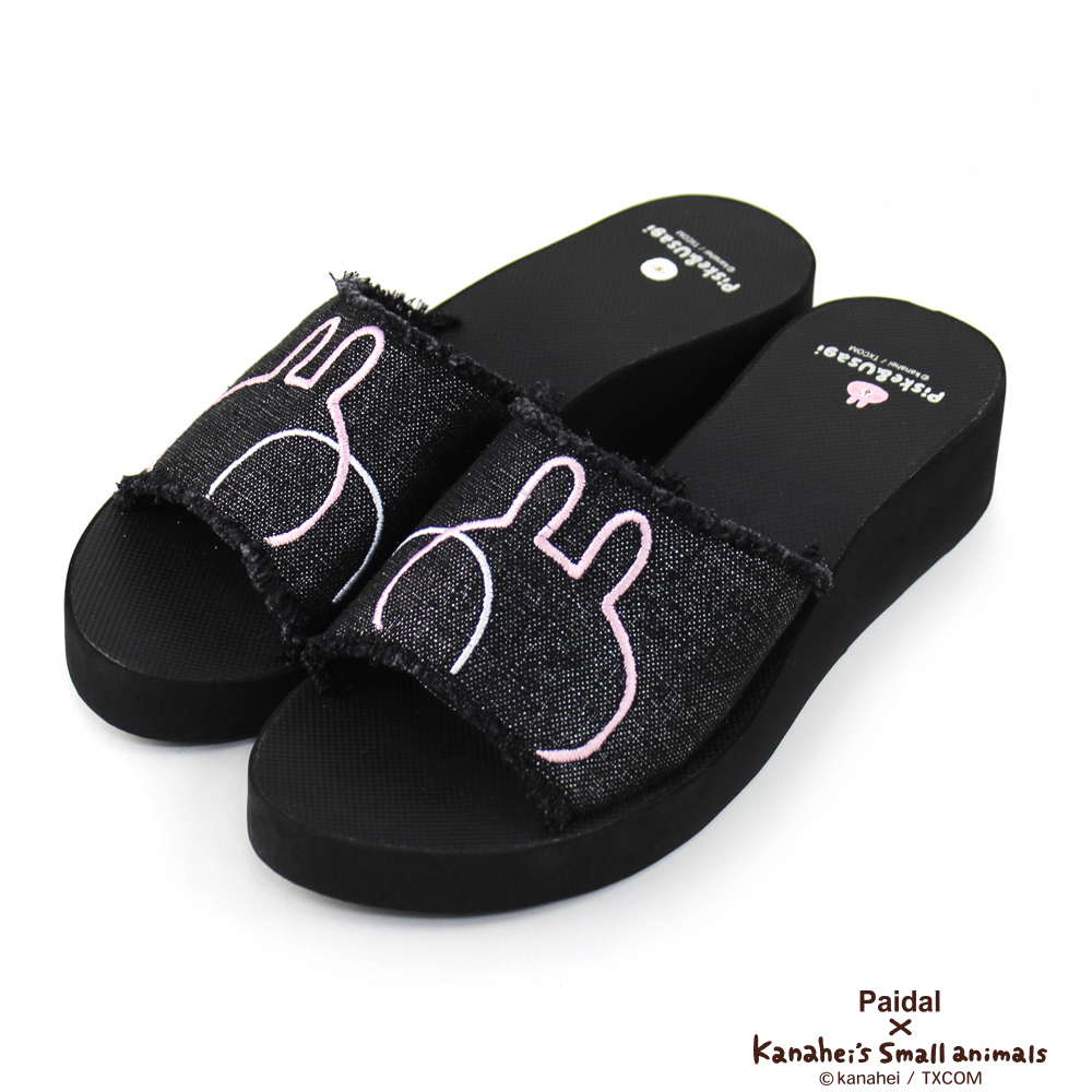 Paidal x 卡娜赫拉的小動物 - 個性龐克厚底拖鞋