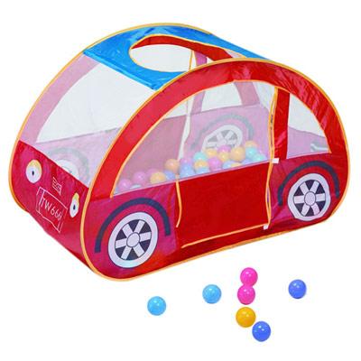 寶貝樂汽車帳篷折疊遊戲球屋送100球