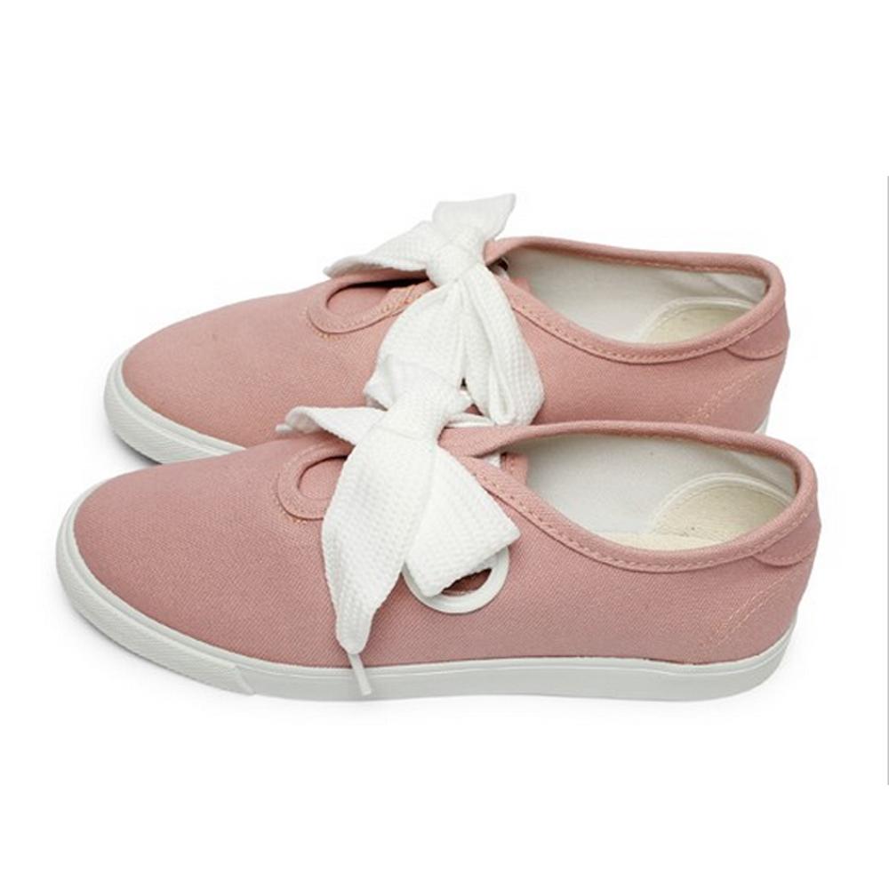FUFA  MIT 粗條鞋帶休閒鞋 (T80)-粉色