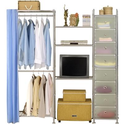 巴塞隆納─W2型60+60+D電視衣櫥置物櫃