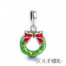 SOUFEEL索菲爾 925純銀珠飾 聖誕花環 吊飾