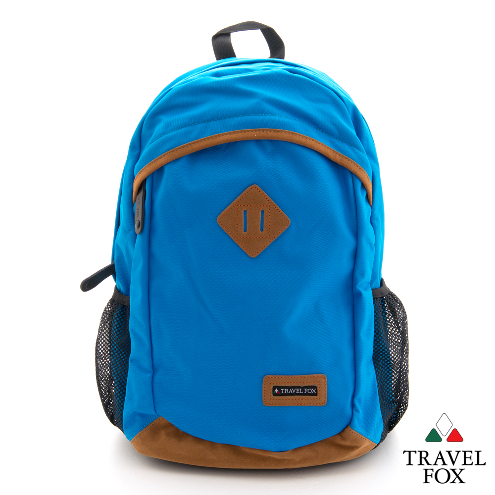 Travel Fox旅狐 休閒包 豬鼻系雙筆電袋尼龍後背包- 潔淨藍