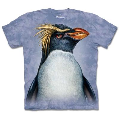 摩達客 美國進口The Mountain長冠企鵝像 純棉短袖T恤