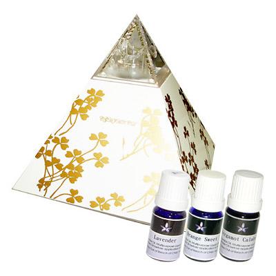 Body Temple金字塔香氛水氧機(台灣製)健康禮盒+3瓶精油