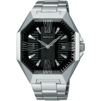 WIRED TOW FACE 宇宙光速時尚腕錶(AF5033X)-黑/40mm