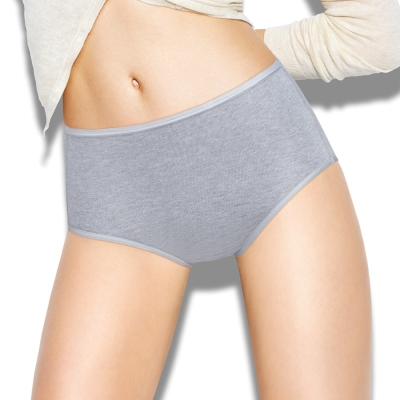 sloggi-Everyday有機棉高腰內褲兩件包 M-EEL(灰)