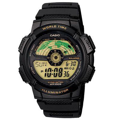 CASIO 航空儀表版造型戶外雙顯錶(AE-1100W-1B)-黑框/48.1mm