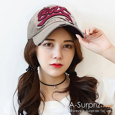 A-Surpriz Bat字母棒球帽(深卡其)