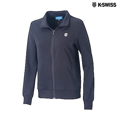 K-Swiss Interlock Jacket運動外套-女-黑