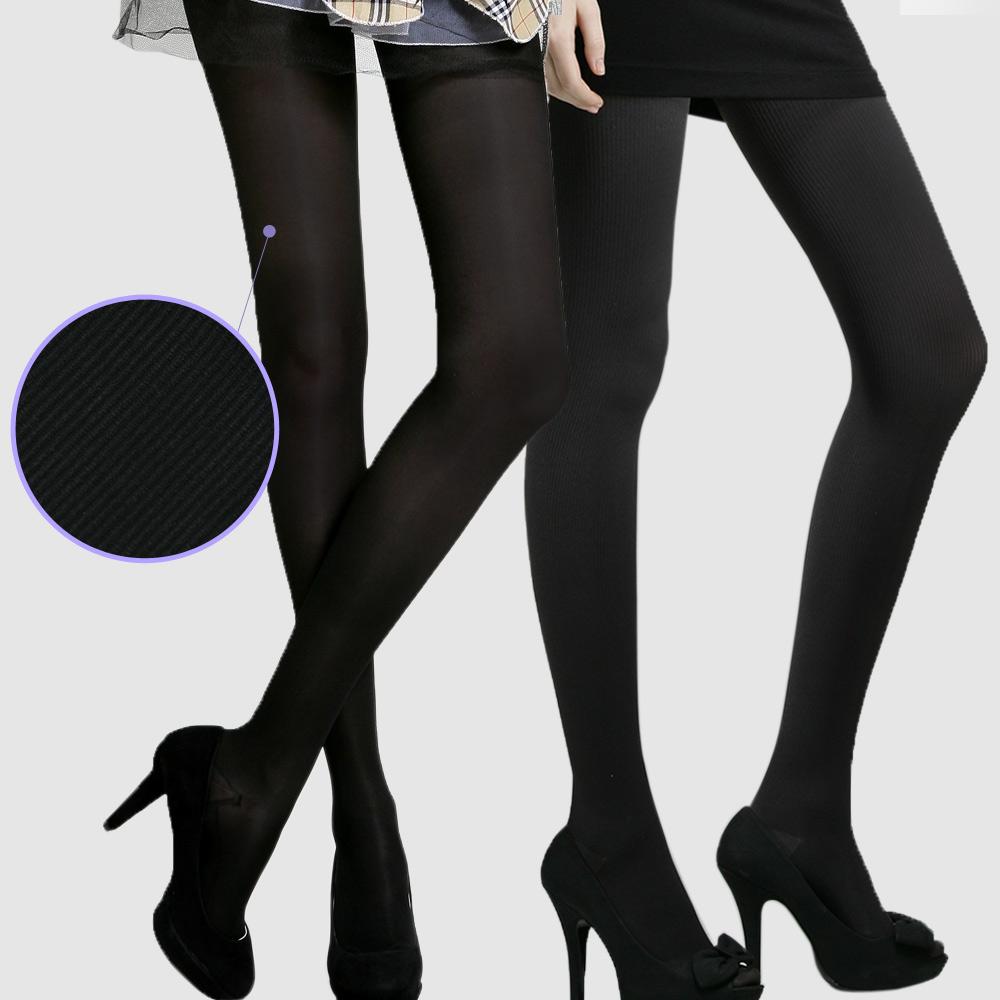 足下物語 360丹輕盈美腿襪 2件組S-L(條紋黑+灰)