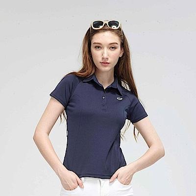 【TOP GIRL】繽紛糖果系簡約POLO衫-藍色