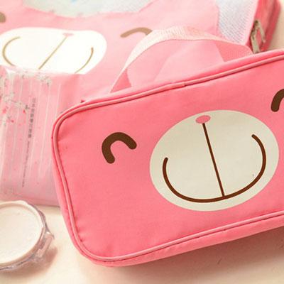 iSFun 微笑熊顏 長型分格盥洗包