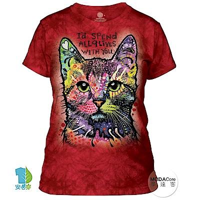 摩達客 美國進口The Mountain 九命小紅貓 短袖女版T恤