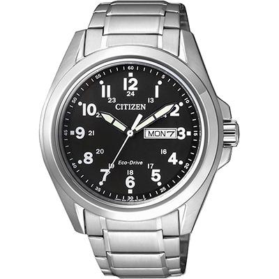 CITIZEN Eco-Drive光動能航行者腕錶(AW0050-58E)-黑/43mm