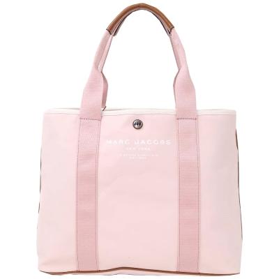 MARC JACOBS 織帶拼接膠質帆布托特包(粉色)