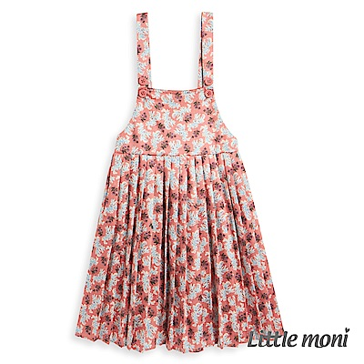 Little moni 碎花吊帶洋裝 (2色可選)