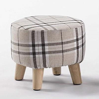 H&D 圓形布面矮凳 (寬33X深33X高27cm)