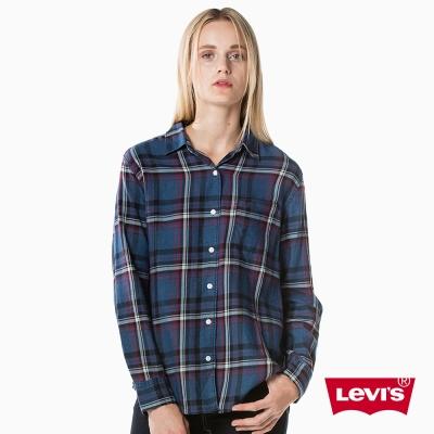 襯衫 女款 深藍格紋 - Levis