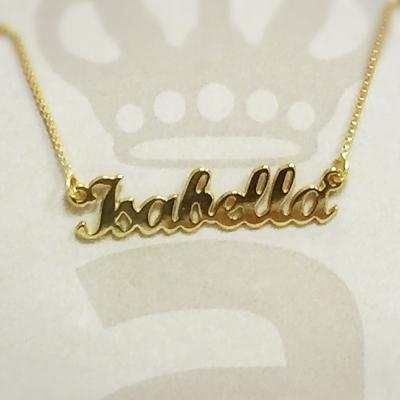 Anna Lou Of London 倫敦品牌 ISABELLA 英文名字金色項鍊