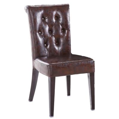 AT HOME-雷恩酒紅色皮餐椅